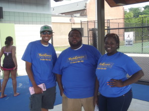 Youth Connect Worcester staff, Andrew, DeMario, and Cindy