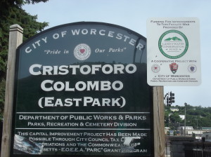 Christoforo Colombo Park sign