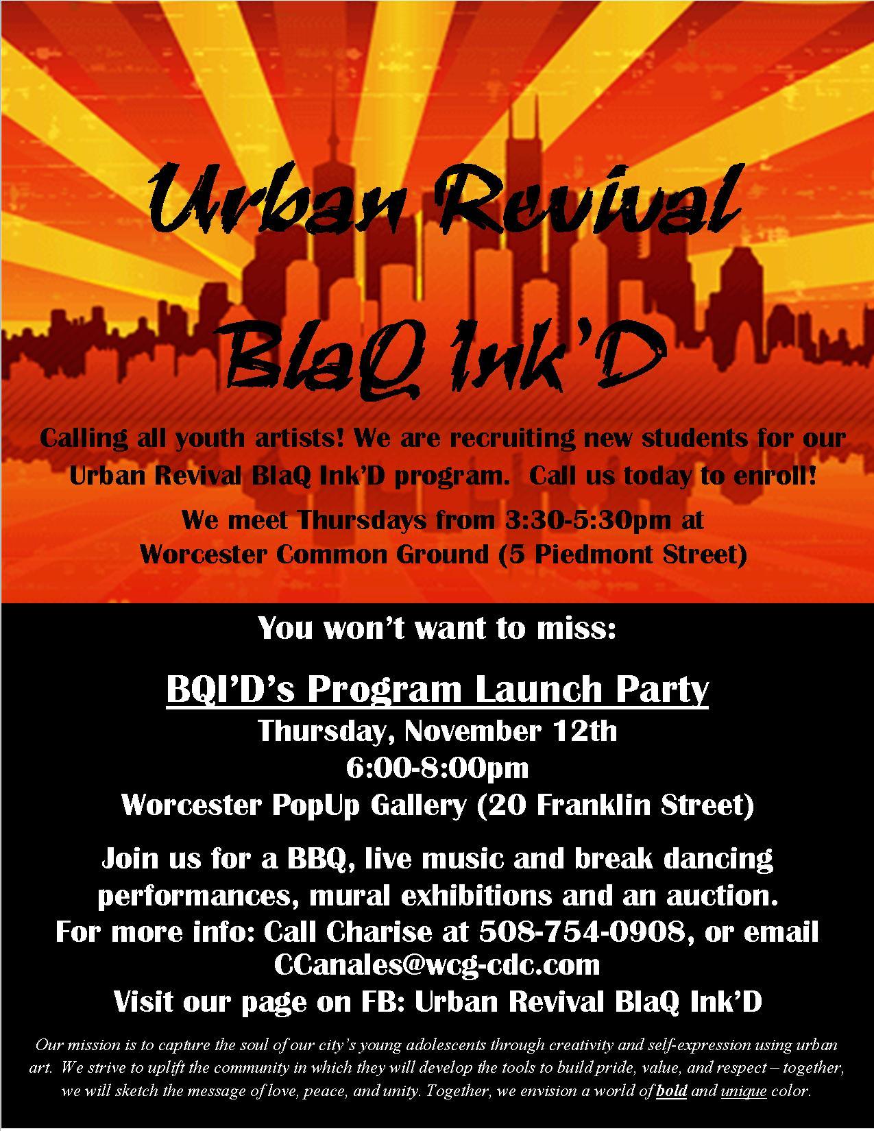 BlaQ Ink'D Party flyer