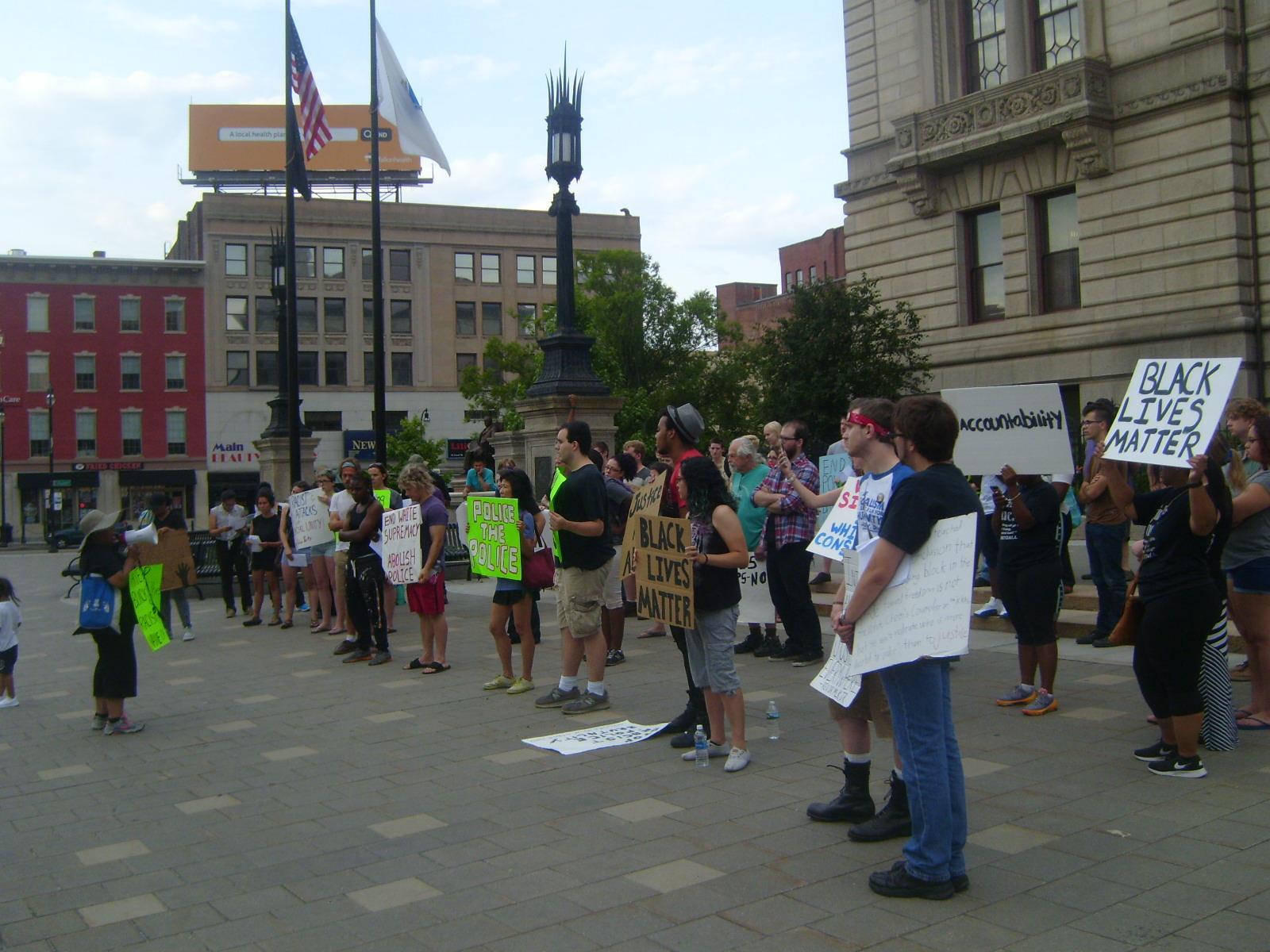 Demo at City Hall 7-7-16