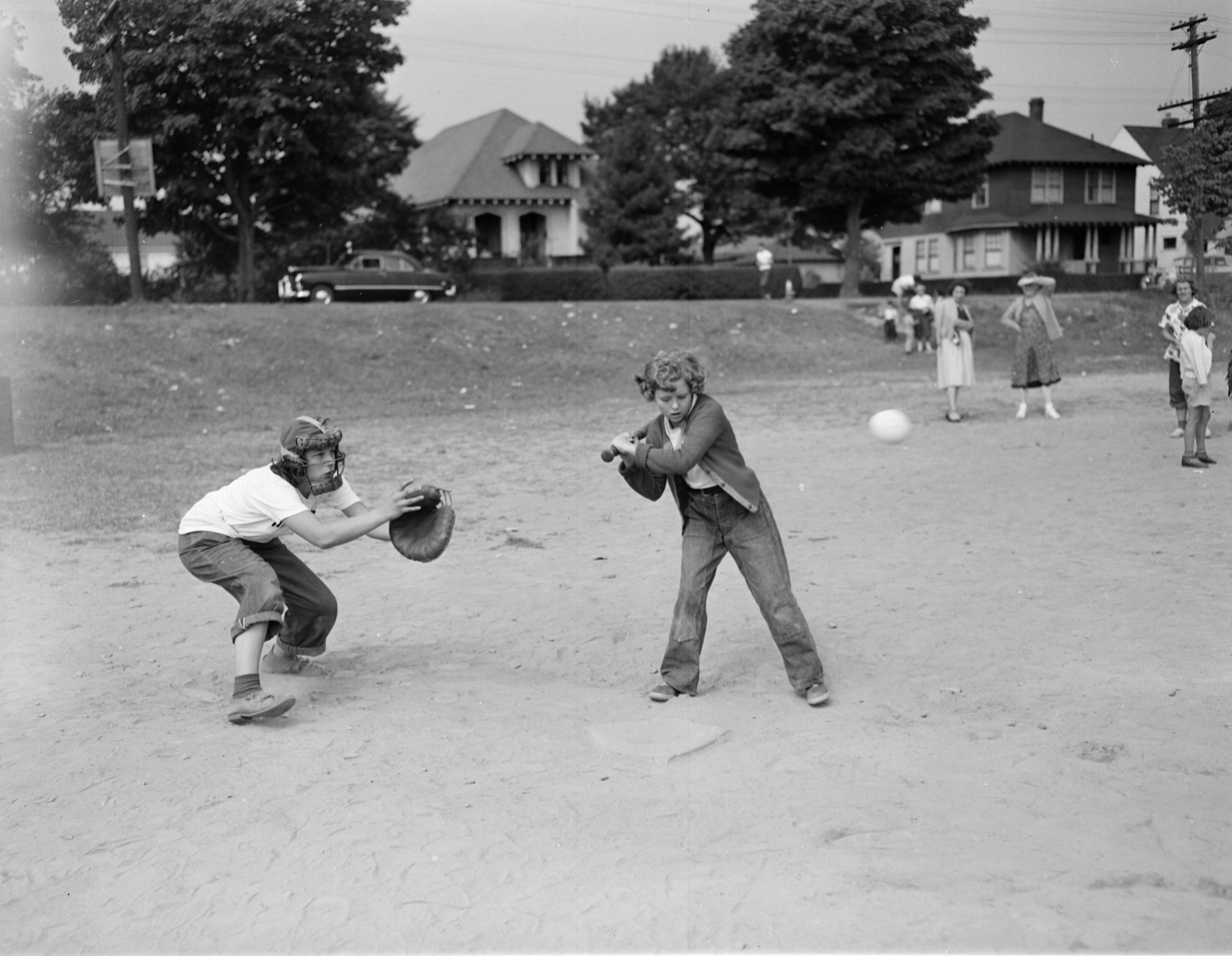 Youth Baseball Game (April 17 1949) GC145 2