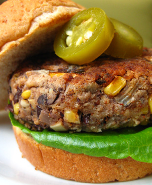 Black Bean Veggie Burger Credit PETA