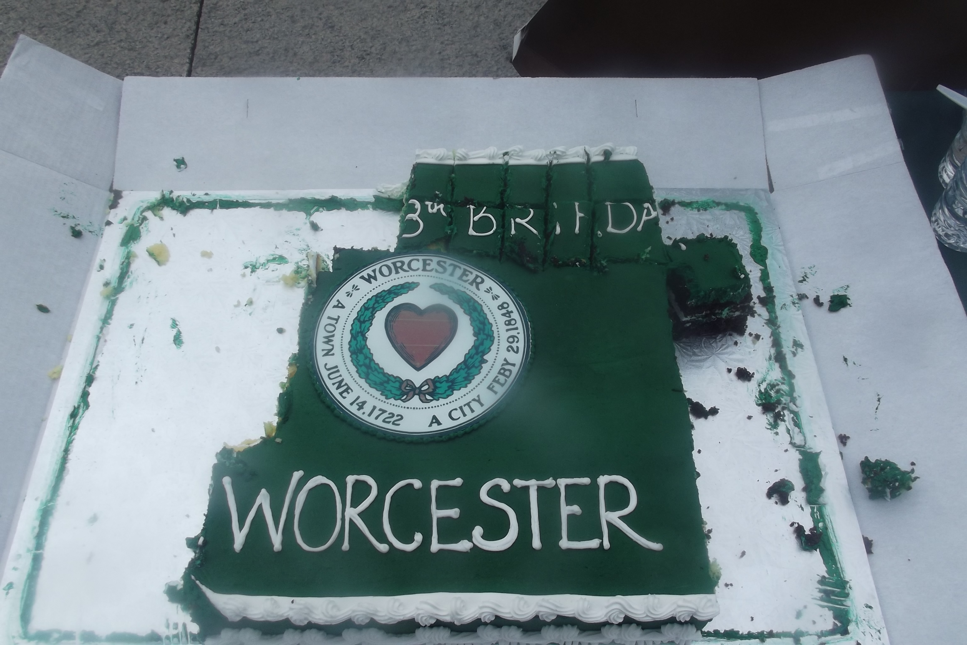 Worcester's Birthday Cake 168 Years as a City.