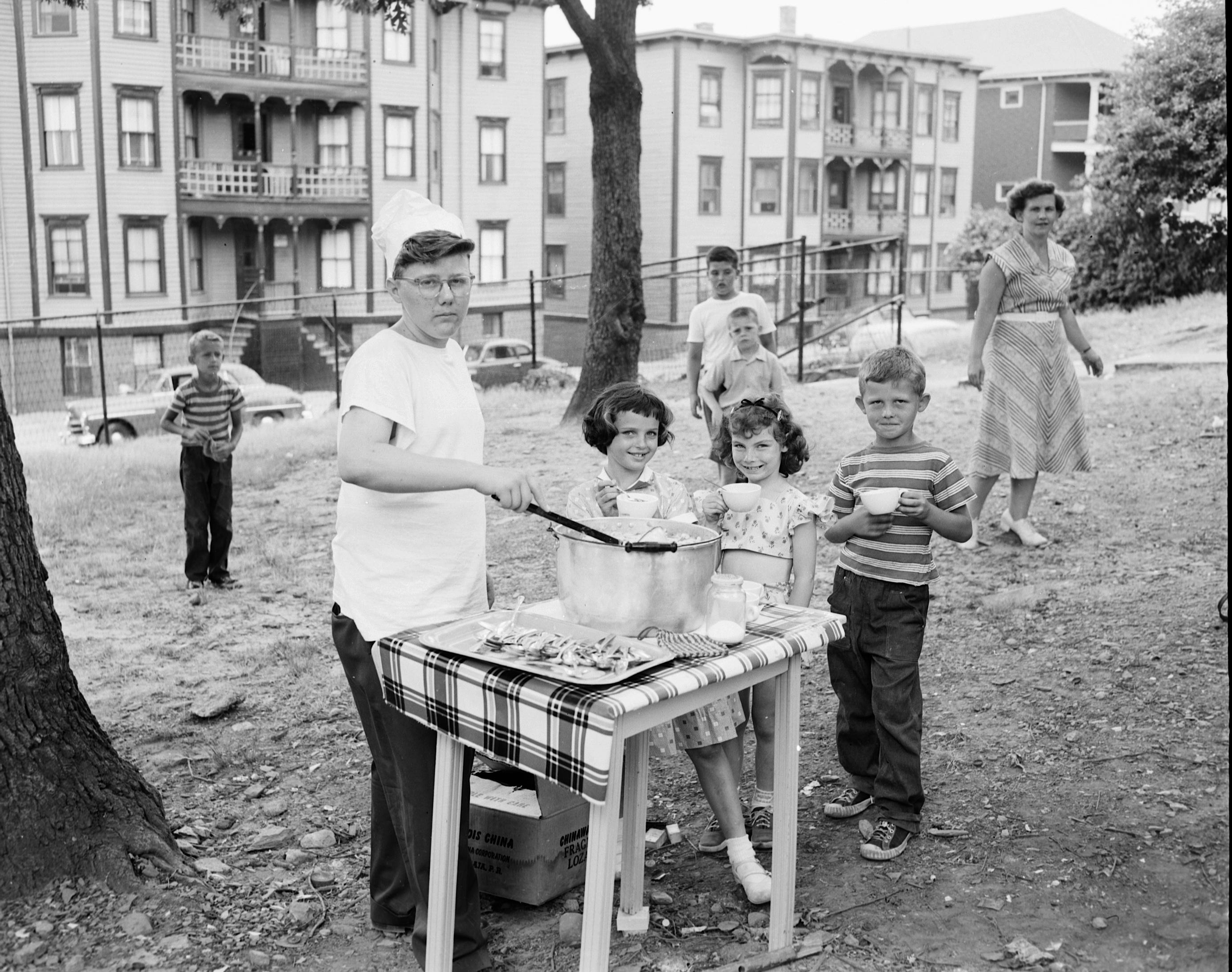 Children eating something (July 7-8,1953) GC 538